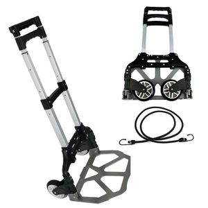 176 lbs Folding Aluminium Cart Luggage Trolley Hand Truck with Black Bungee Cord for Sale in Lake Elsinore, CA
