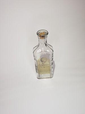 Antique blue ribbon medecine clear glass bottle for Sale in Grand Terrace, CA