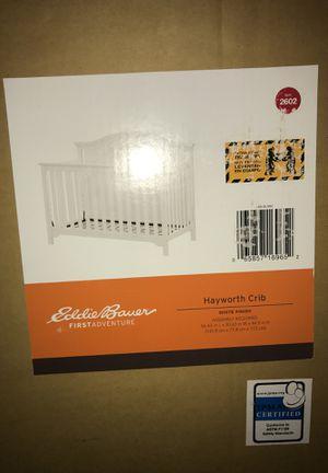 Eddie Bauer First Adventure All White Baby Crib for Sale in Washington, DC