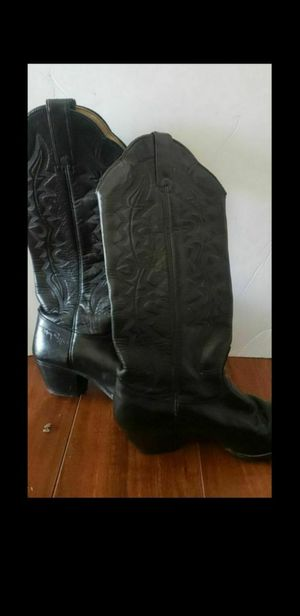 Kenny Roger's black western boots for Sale in South Gate, CA