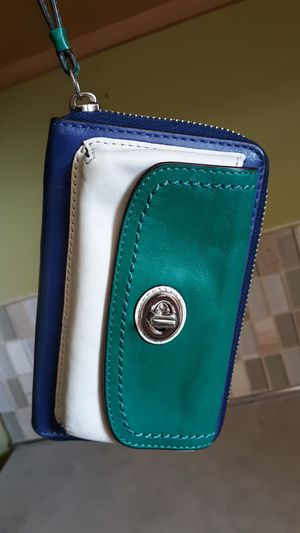 Coach Color Block Wristlet Leather for Sale in Vancouver, WA