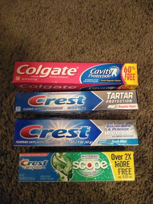 Alll brand new in package toothpaste for Sale in Saint Petersburg, FL