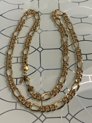 "18k GPL Figaro Chain Necklace 24"" 8mm for Sale in Nashville, TN"