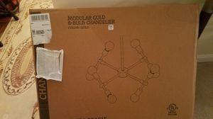 Brand new Modular Gold Chandelier 8 bulbs for Sale in Fairfax, VA