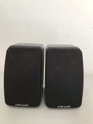 POLK AUDIO RM SERIES II SHIELDED SATELLITE SPEAKERS Pair With Mounting Brackets for Sale in Chicago, IL