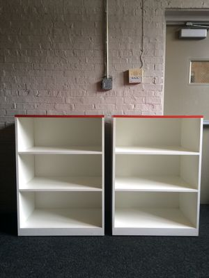 Pair of Bookshelves. On casters. for Sale in Chicago, IL