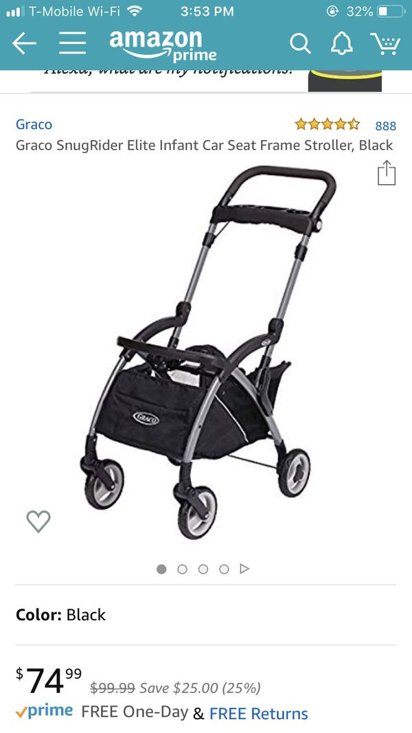 Graco Snugride Click Connect infant car seat, 2 bases, stroller