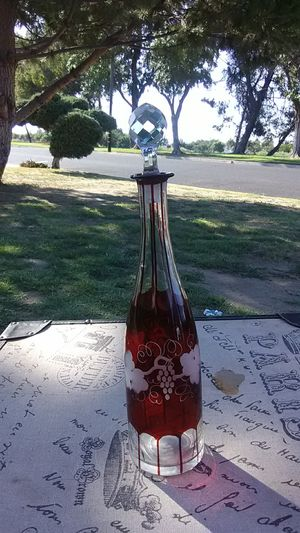 Crystal wine bottle for Sale in Madera, CA