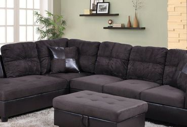 New sectional with storage Ottoman Espresso for Sale in Kent,  WA