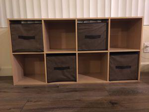 8 cube organizer - light oak color for Sale in Orange, CA