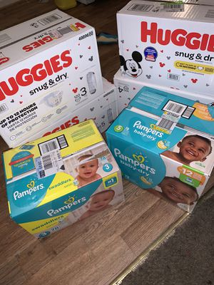 Huggies and pampers for Sale in Norfolk, VA