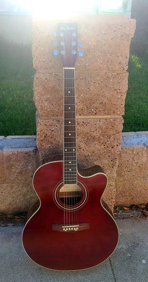 New Acoustic Electric Guitar Burgundy Jumbo Body 5 band EQ w Built-in-Tuner. Guitarra Nueva for Sale in South Gate, CA