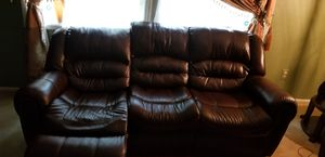 Leather Sofa. for Sale in Sterling, VA
