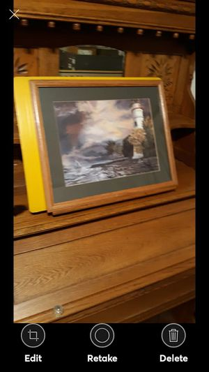 Beautiful Lighthouse Art Decor Framed Picture for Sale in Lynchburg, VA
