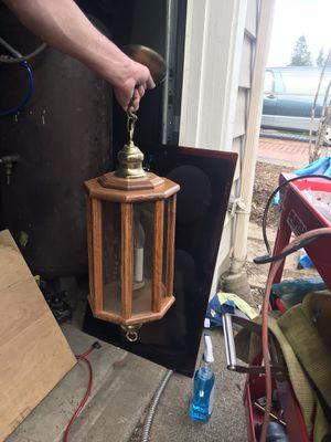 Solid oak lighting fixture for Sale in Salem, OR