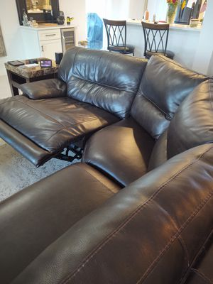 Brown Leather Sectional for Sale in Boynton Beach, FL