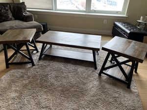 Rustic coffee and end tables for Sale in Philadelphia, PA