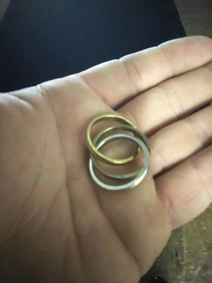 3 band wedding ring size 10 for Sale in Tampa, FL