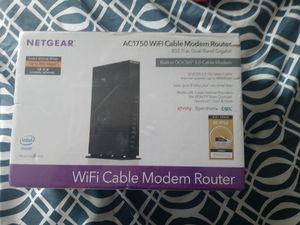 Brandnew net gear cable modem router wifi cable modem router new never open for Sale in Lowell, MA