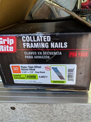 Collated framing nails for Sale in Dickerson, MD