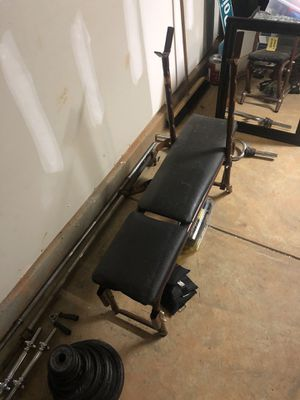Bench press + Accessories!!! for Sale in Raleigh, NC