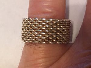 Tiffany & Co 925 Sterling Silver Somerset Flex Mesh Unisex Size 9 Ring for Sale in Columbia, SC