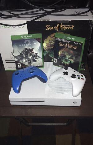 Xbox One S w/ extra blue controller & Destiny 2 for Sale in Warwick, RI