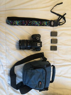 Canon eos rebel t3 with 82-135mm lens for Sale in Huntington Beach, CA