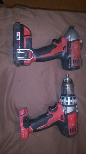 M18 IMPACT AND DRILL DRIVERS MILWAUKEE ONE BATTERY NO CHARGER for Sale in Dallas, TX
