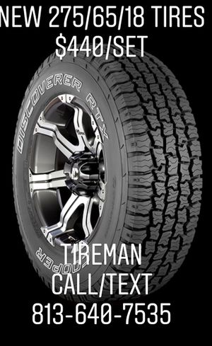 New 275/65/18 tires cheap $440/set Tireman for Sale in Tampa, FL