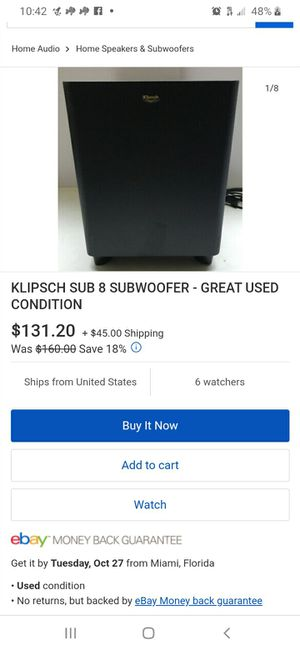 Bose surround speakers and klipsch subwoofer for Sale in Mesa, AZ