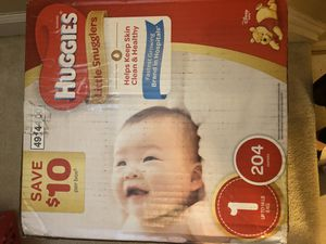 Huggies size one diapers for Sale in Germantown, MD