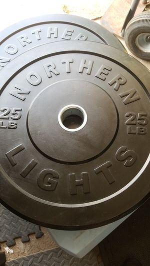 SET OF 25LBS bumper plates for Sale in Pasadena, TX