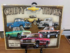 Chevy trucks tin sign for Sale in Lakeland, FL