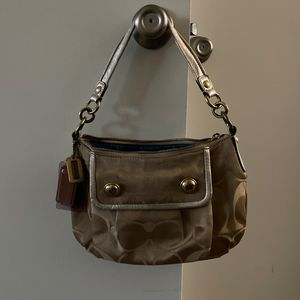 Coach Purse Gold And Teal for Sale in Seal Beach, CA