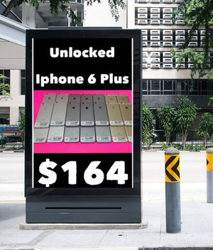 Unlocked New Condition with Warranty, 3 colors Available IPhone 6 plus on sale , we're on 4941 E Busch Blvd # 170, 33617 for Sale in Tampa, FL