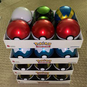 Pokemon Pokeball Empty Tin Lot (24) for Sale in Auburn, WA