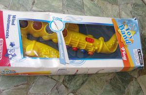 Toy Band .. Yellow Saxophone .. Wind Instrument by Bontempi made in Italy. It is new and sweet.. the box has storage damage for Sale in Bristol, PA