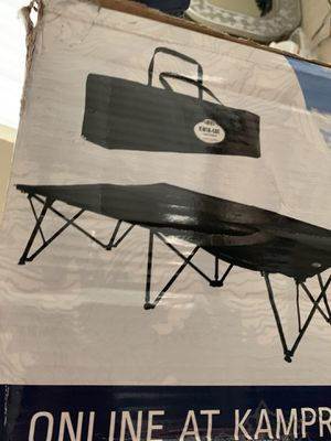 Kamp-Rite double cot. Used once. Smoke free Pet free. RV trailer home, motor-Home camper mattress sleeper for Sale in Lake Worth, FL