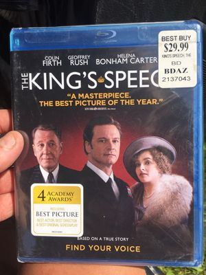 The Kings Speech Blu-ray for Sale in Spring Valley, MN