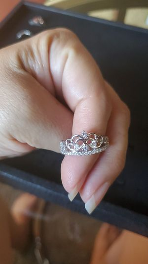 Crown tiara sterling silver ring for Sale in Los Angeles, CA