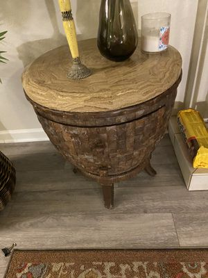 Marble top side table with two drawers for Sale in Boulder, CO