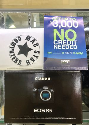 CANON EOS R5 Body Only Available In Stock with Down Payment of for Sale in Long Beach, CA