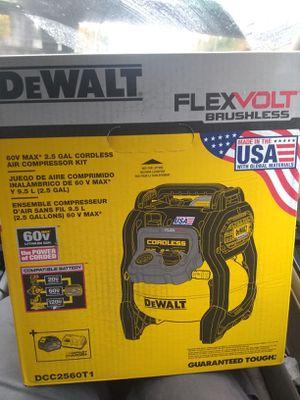 Dewalt 60 V MAX 2.5 Gallon Cordless Air Compressor Kit for Sale in Bellevue, WA