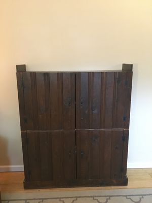 Wooden storage cabinet with shelves for Sale in Gaston, SC