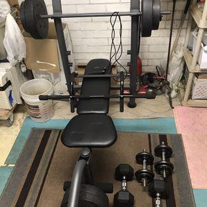 Golds Gym Set W/ Dumbells for Sale in Hamden, CT