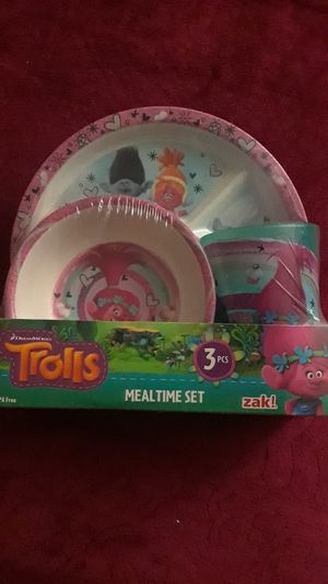 TROLLS MEALTIME SET $10 ✔PRICE IS FIRM✔ for Sale in Bell Gardens, CA