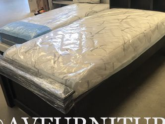 Solid Wood Twin Bed And Mattress for Sale in Long Beach,  CA