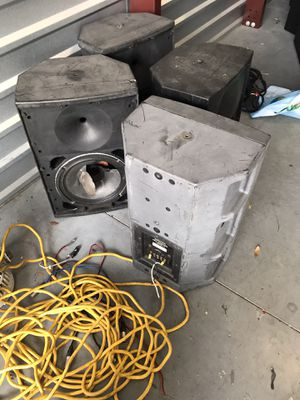 """6 EAW 12"""" 2 way speaker boxes, no drivers free must pick up FREE!! for Sale in Winter Garden, FL"""