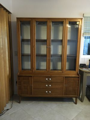 Antique China/Knickknack Cabinet—All Wood for Sale in Spring Valley, CA